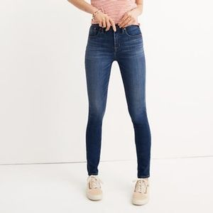 "NWT Madewell 10"" High Rise Danny Skinny Jeans 28"